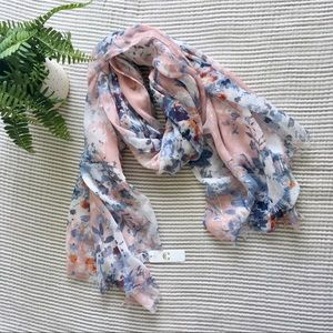 Charming Charlie Floral Lightweight Scarf NWT